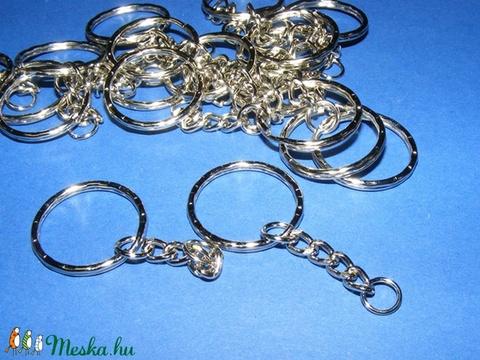 Kulcskarika lánccal (468/E minta/1 db) - 25 mm, Csat, karika, zár, Alkotók boltja