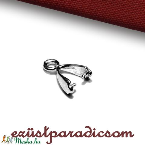 925 valódi ezüst MEDÁLAKASZTÓ; B105 - sterling ezüst medál akasztó, Gyöngy, ékszerkellék, Alkotók boltja