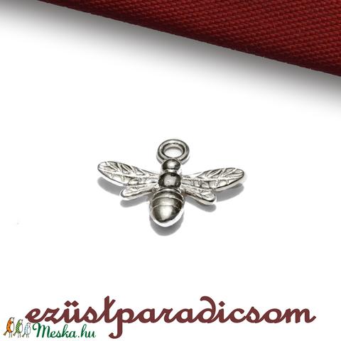 925 valódi ezüst CHARM; B254 - sterling ezüst medál, Gyöngy, ékszerkellék, Alkotók boltja