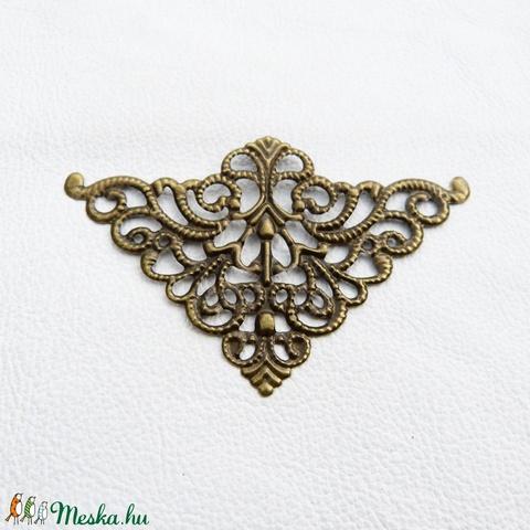Háromszögek - 5db - bronz, Gyöngy, ékszerkellék, Egyéb alkatrész, Alkotók boltja