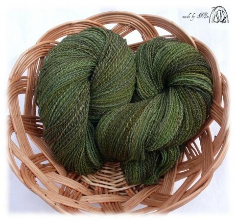 Kézi fonású gyapjú fonal zöld lomb színekben, Fonal, cérna, Gyapjúfonal, Alkotók boltja