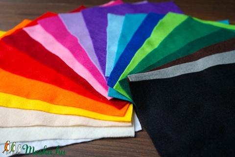 AKCIÓ!!! 5 db gyönyörű élénk színű filc lap, Textil, Filc, Alkotók boltja