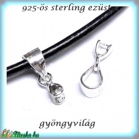 925-ös ezüst medálkapocs EMK 40, Gyöngy, ékszerkellék, Egyéb alkatrész, Alkotók boltja