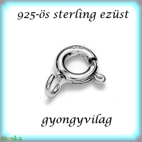 925-ös ezüst 1soros lánckapocs ELK 12 7,5x5, Gyöngy, ékszerkellék, Egyéb alkatrész, Alkotók boltja