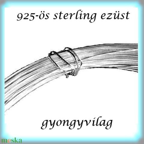 925-ös ezüst huzal kemény (hard) EH 0,8mm-es 1cm , Gyöngy, ékszerkellék, Egyéb alkatrész, Alkotók boltja