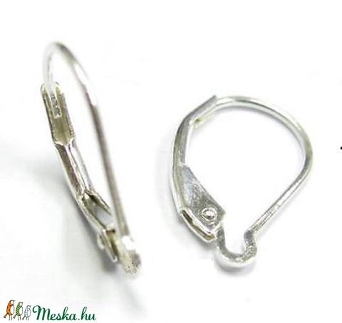 925-ös ezüst fülbevaló kapocs biztonsági kapoccsal EFK K 18, Gyöngy, ékszerkellék, Egyéb alkatrész, Alkotók boltja
