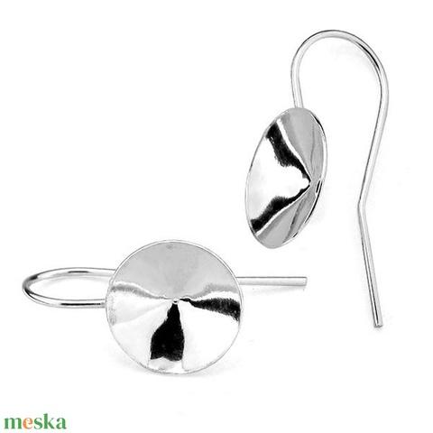 925-ös ezüst fülbevaló kapocs biztonsági kapoccsal EFK A 59-16, Gyöngy, ékszerkellék, Egyéb alkatrész, Alkotók boltja