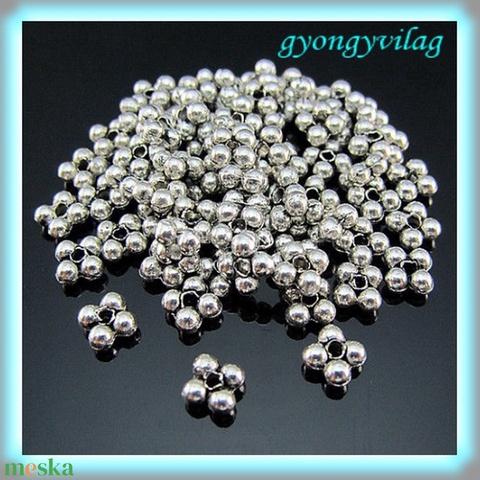 Ezüst színű 20db 6mm-es köztes/díszitőelem/stopper BKÖ04, Gyöngy, ékszerkellék, Fém köztesek, Alkotók boltja