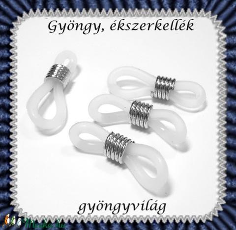 Szemüvegtartó gumi gyűrű 10db  BEK 01, Gyöngy, ékszerkellék, Egyéb alkatrész, Alkotók boltja
