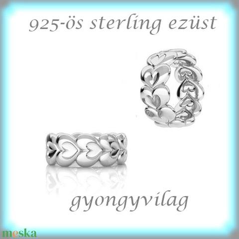 925-ös ezüst köztes / gyöngy / dísz EKÖ 78, Gyöngy, ékszerkellék, Fém köztesek, Alkotók boltja