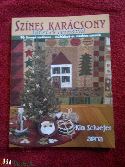 Színes karácsony tűvel és cérnával, Könyv, újság, Új könyv, Alkotók boltja