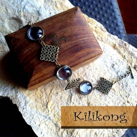 799a5a367 Antik bronz négyzetes karkötő alap + 3üveglencse,..., alkotokboltja.hu