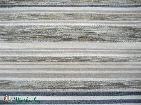 Barna kék csíkos dekor anyag de48a13a18