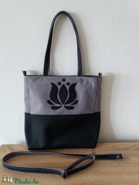 Cordura Műbőr táska tulipán motívummal b27700e22e