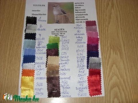26  színben dekoratív szatén 150 cm 990.-Ft, Textil, Selyem, Alkotók boltja