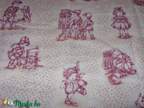 Gyerekek - 2 szín toile vintage  patchwork USA design textil 55 x 30 cm minőségi  USA design , Textil, Pamut, Alkotók boltja
