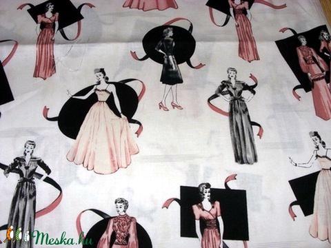 Nagyon csajos  egyedi USA Design textil:o) 55 x 30 cm minőségi textil , Textil, Pamut, Alkotók boltja