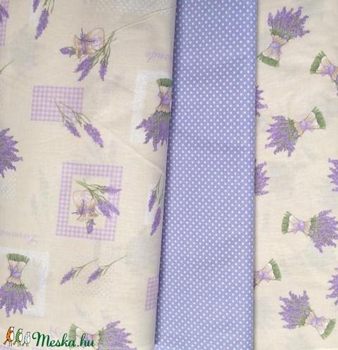 4414759015 Varrással is - Levendula mánia design textil 70 x 50 cm minőségi textil,  Textil,