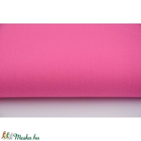 Pink színű vastagabb vászon anyag - sötétebb rózsaszín vászon - home decor lakástextil, Textil, Alkotók boltja