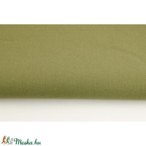 Khaki színű vastagabb vászon anyag - keki színű vászon - home decor  lakástextil 0f159e2703