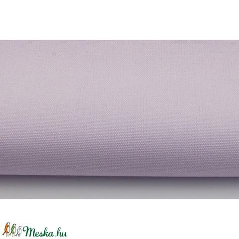Pasztell lila színű vastagabb vászon anyag - világos lila vászon - home decor lakástextil, Textil, Alkotók boltja