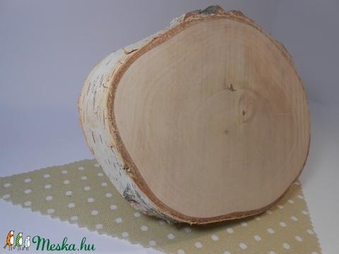 Nyírfa szelet, fa korong, fa szelet dekorációhoz, transzfertechnikához, dekupázshoz, Fa, Rétegelt lemez, fa alap, Alkotók boltja