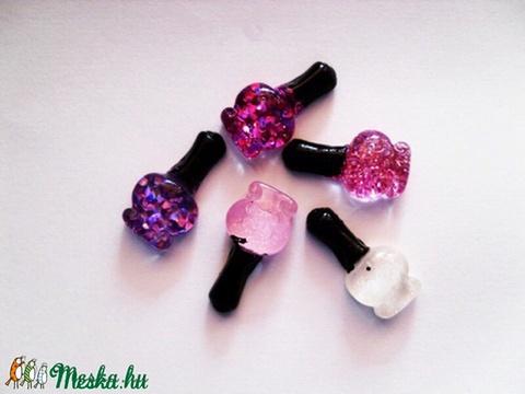 5db-os parfümös vagy körömlakk üveg cabochon kaboson szett , Dekorációs kellékek, Gyöngy, ékszerkellék, Alkotók boltja