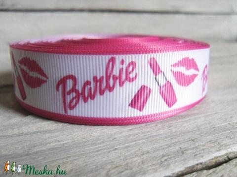 Barbie Rúzs mintás Grosgrain szalag - 22mm, Textil, Szalag, pánt, Alkotók boltja