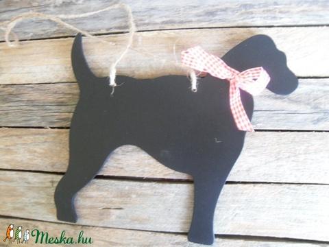 Kutya alakú fekete fa tábla ajtóra , Dekorációs kellékek, Fa, Alkotók boltja