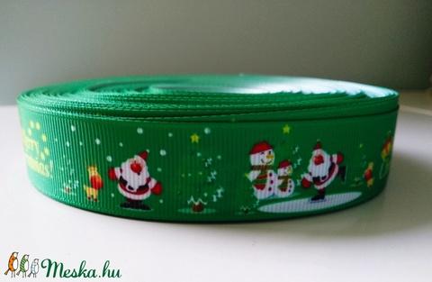 Karácsonyi mintás Grosgrain szalag - 22-25mm , Textil, Szalag, pánt, Alkotók boltja