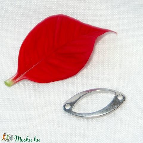 Nemesacél összekötő elem (18mm), Gyöngy, ékszerkellék, Egyéb alkatrész, Alkotók boltja