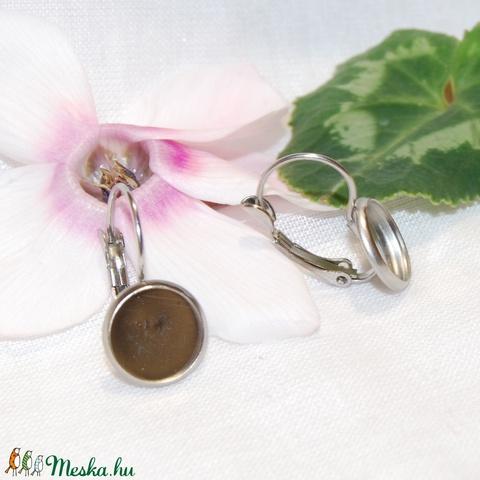 Nemesacél franciakapcsos fülbevaló alap (14 mm), Gyöngy, ékszerkellék, Egyéb alkatrész, Alkotók boltja