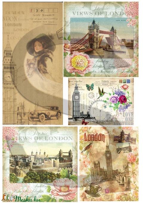 Romantikus utazások sorozat:London, Papír, Decoupage papír, Alkotók boltja