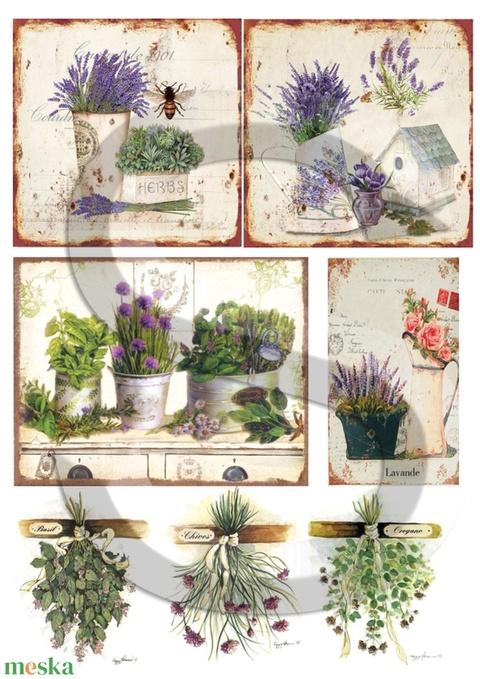 Provence fűszerei, Papír, Decoupage papír, Alkotók boltja