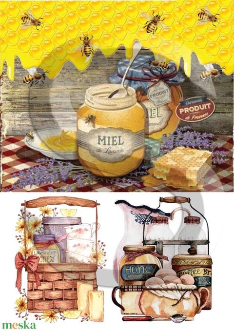 Levendula méz, Papír, Decoupage papír, Alkotók boltja