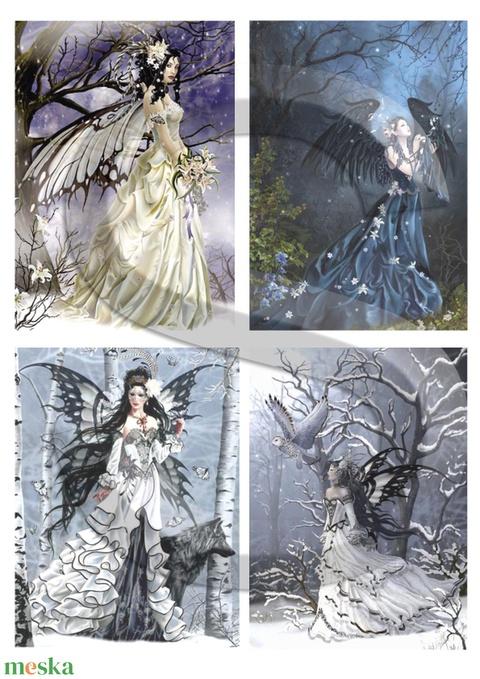 Fantasy sorozat : Erdei tündérek, Papír, Decoupage papír, Alkotók boltja