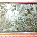 Biblia részlet (Saját kézzel gravírozott kép), Üveg, Üvegművészet, Üveggravírozás,  Biblia részlet (Saját kézzel gravírozott kép) leírása késztermék, azonnal szállítható  Ez a kép a ..., Alkotók boltja