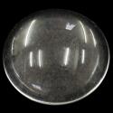5 db Lapos hátú áttetsző üveg lencse edzett üvegből 25 mm, Gyöngy, ékszerkellék, Üveg, Cabochon, Alkotók boltja