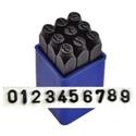 Számbeütő készlet 8  mm es, , Fémmegmunkálás, ötvösség, Számok 0-9-ig, 9db-os szám beütő készlet (a 6-os és a 9-es egy db) Leírás Acélhoz, fémhez és fához ..., Alkotók boltja
