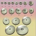 """Bevonható, behúzható gomb 44"""" 12db/cs, Gomb, Fém gomb, Bevonható, behúzható gombalap 12db/cs 44"""" gombméretben.  fém 1 lyukas , Alkotók boltja"""