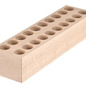 Fogó-eszköztartó fából, Fa, Tároló, 20 db 25 mm nagy lyukkal, lyukmélység: 51 mm Méret:80*60*300 mm, Alkotók boltja