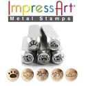 Metal design Stamping készlet, Gyöngy, ékszerkellék, Egyéb alkatrész, Metal design Stamping készlet 5db/ szett 6MM STAMP  ImpressArt, Alkotók boltja