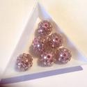 Szamballa, shamballa gyöngy 14 mm 6db, Gyöngy, ékszerkellék, Kerámiagyöngy, Szamballa, shamballa gyöngy 14 mm 6db/cs, Alkotók boltja