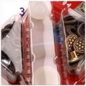 Patent, szegecsgomb, beüthető gomb  bronz 15 mm , Szerszámok, eszközök, Egyéb szerszám, eszköz, Mindenmás,  3. auto moto-típus   leírás Az összenyomható gombot erősebb anyagok összekapcsolására használják. ..., Alkotók boltja