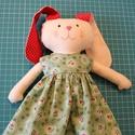 Nyuszi kislány leírás, DIY (leírások), Szabásminta, útmutató, Egy kb. 30 cm magas, öltöztethető nyuszi baba szabásmintája, leírása lépésről- lépésre. ..., Alkotók boltja