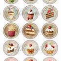 Édességek körökben textilre vasalható nyomat A4 méretben, Papír, Dekorációs kellékek, Mindenmás, A textilre vasalható íveknél fontos tudni, hogy kimondottan műszálas, vagy műszálat nagy mértékben ..., Alkotók boltja