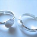 - 5 db/ cs. Gyűrűalap ezüst színű , Gyöngy, ékszerkellék, Egyéb alkatrész, Alkotók boltja