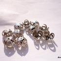 - Platina színű filigrán gyöngykupak 20 db/cs., Gyöngy, ékszerkellék, Alkotók boltja