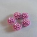 - 5 db gyanta rózsa cabochon 10 mm, R9, Gyöngy, ékszerkellék, Cabochon, Befoglalható, ragasztható gyanta rózsa cabochon.  Méret: 10 mm Ragasztható felület 6,5 mm  Egy csoma..., Alkotók boltja