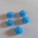- 5 db gyanta rózsa cabochon 10 mm, R10, Gyöngy, ékszerkellék, Cabochon, Befoglalható, ragasztható gyanta rózsa cabochon.  Méret: 10 mm Ragasztható felület 6,5 mm  Egy csoma..., Alkotók boltja